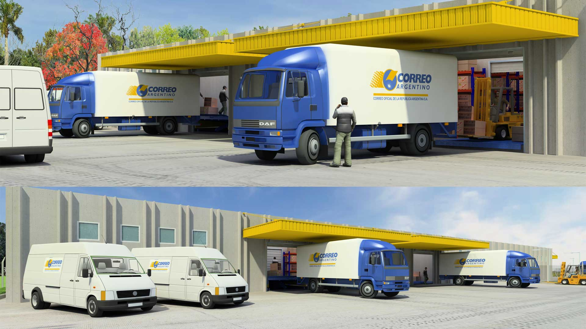 Renders 3D Arquitectura  Renders 102-CORREO-ARGENTINO-CAMARA-3-6