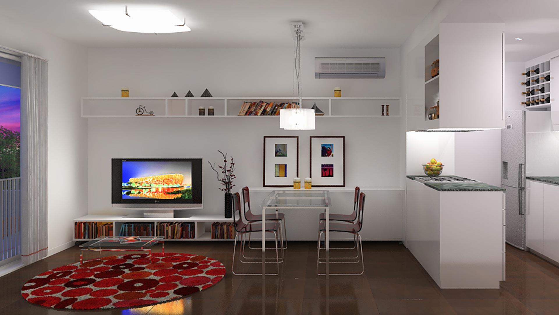 Renders 3D Arquitectura  Renders 208-LARRALDE-Interior-camara-1-noche