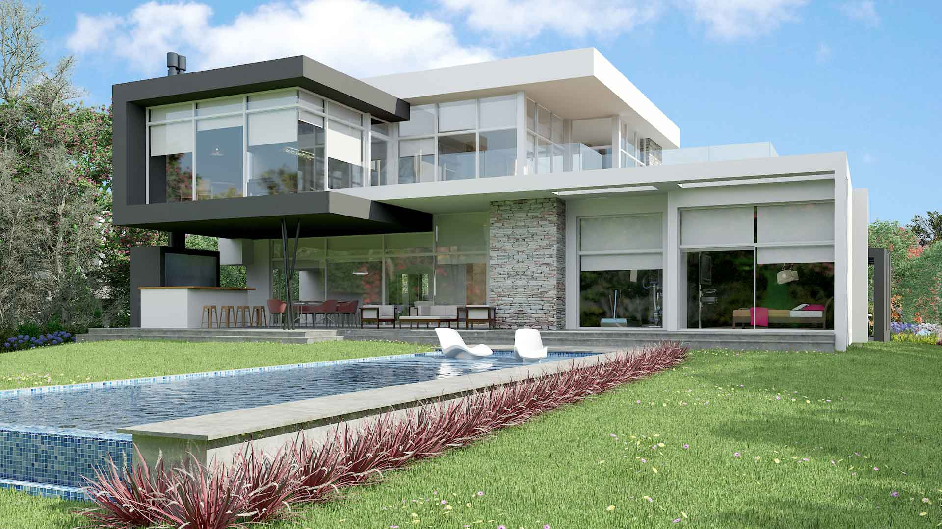 Renders interiores y exteriores de casas viviendas i for Casas para exteriores