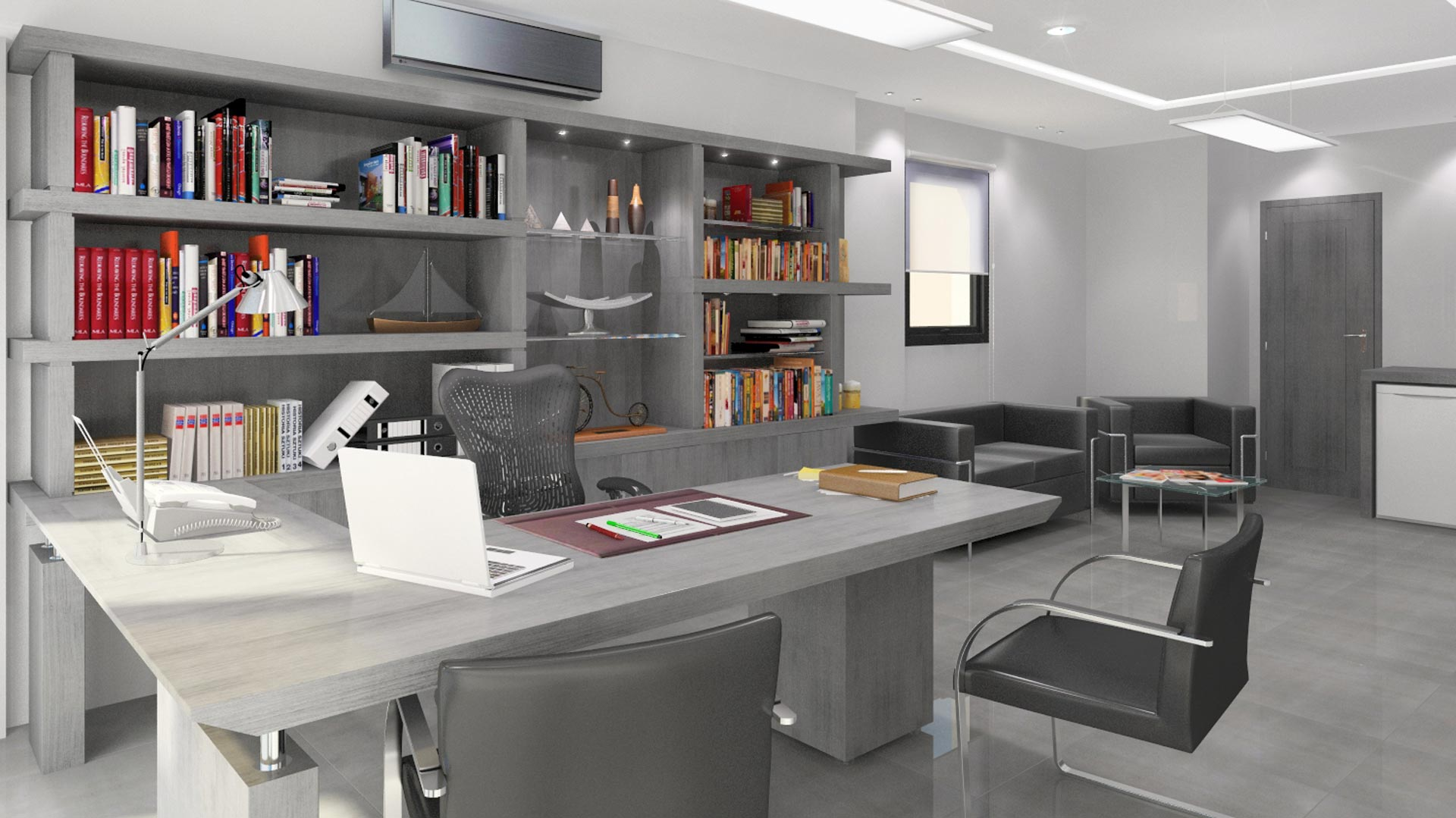 Im genes 3d renders interiores de oficinas i javier - Oficinas de arquitectura ...