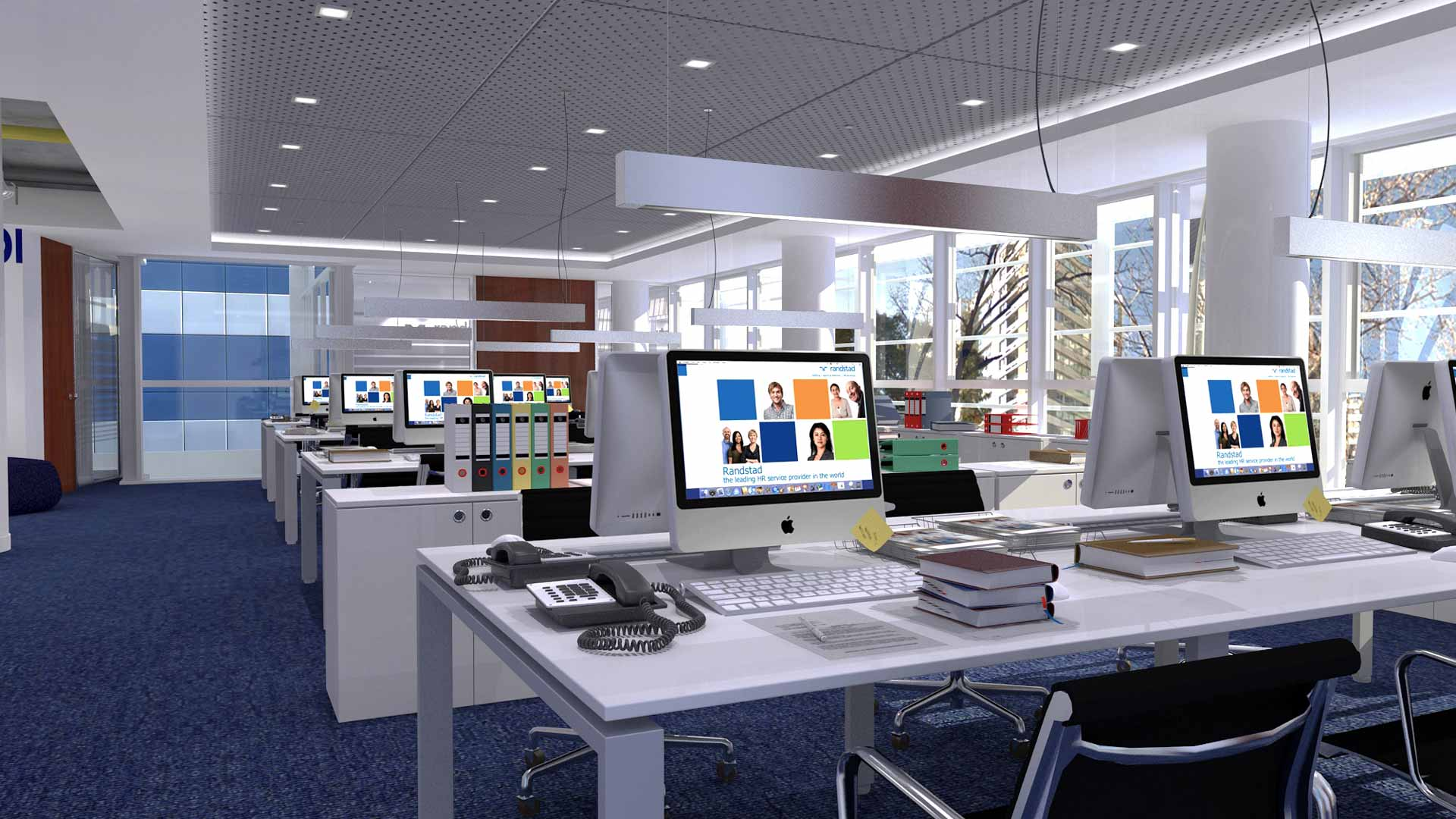 Renders 3D Arquitectura  Oficinas 305-RANDSTAD-ICP-CABA-camara-7